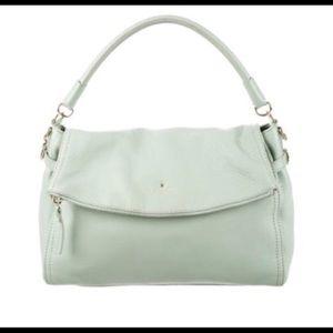 Kate Spade Little Minka Ice Blue Leather Purse Bag